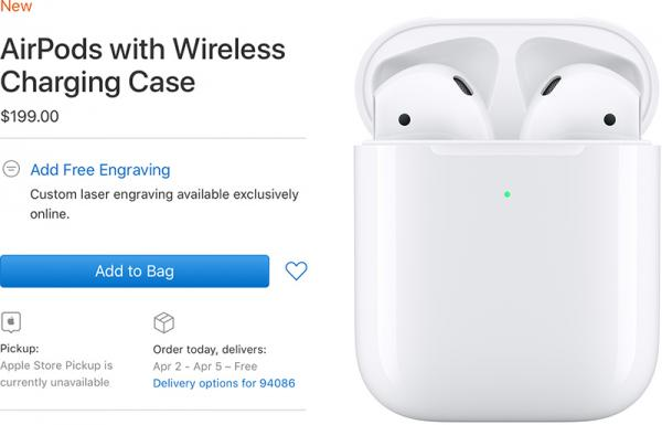 photo of AirPods With Wireless Charging Case Delivery Date Slips to April image