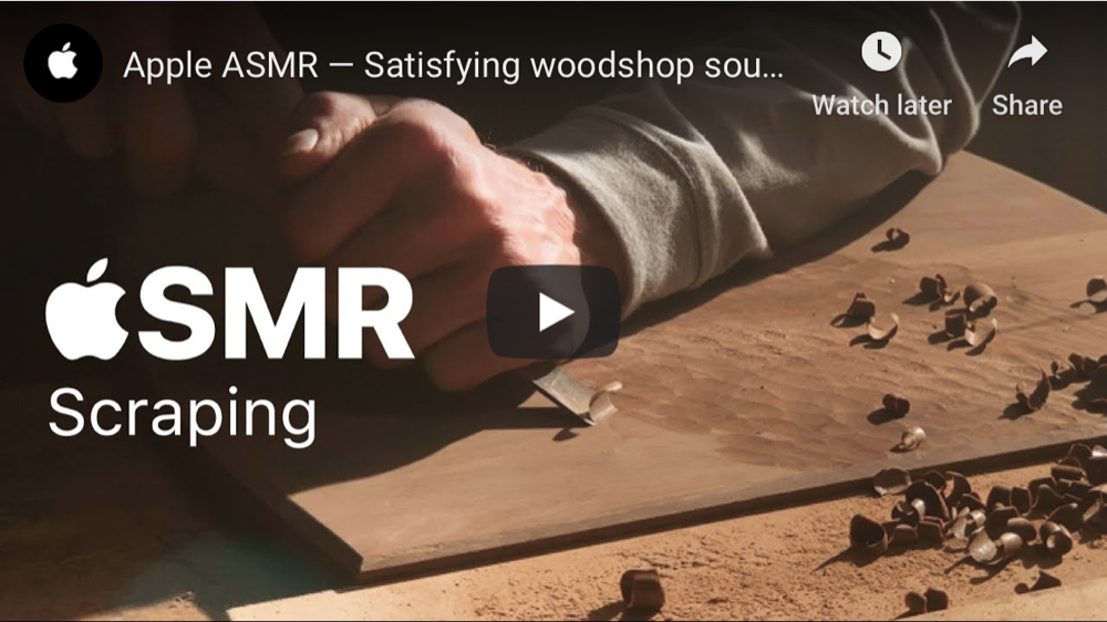 Apple just released four YouTube ASMR videos that are meant to give viewers a tingly feeling