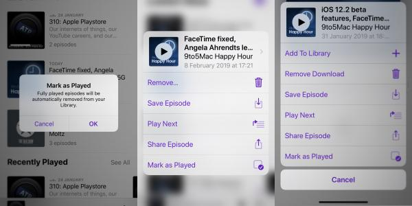 photo of iOS 12.2 adds 'Mark as Played' feature to Apple Podcasts image