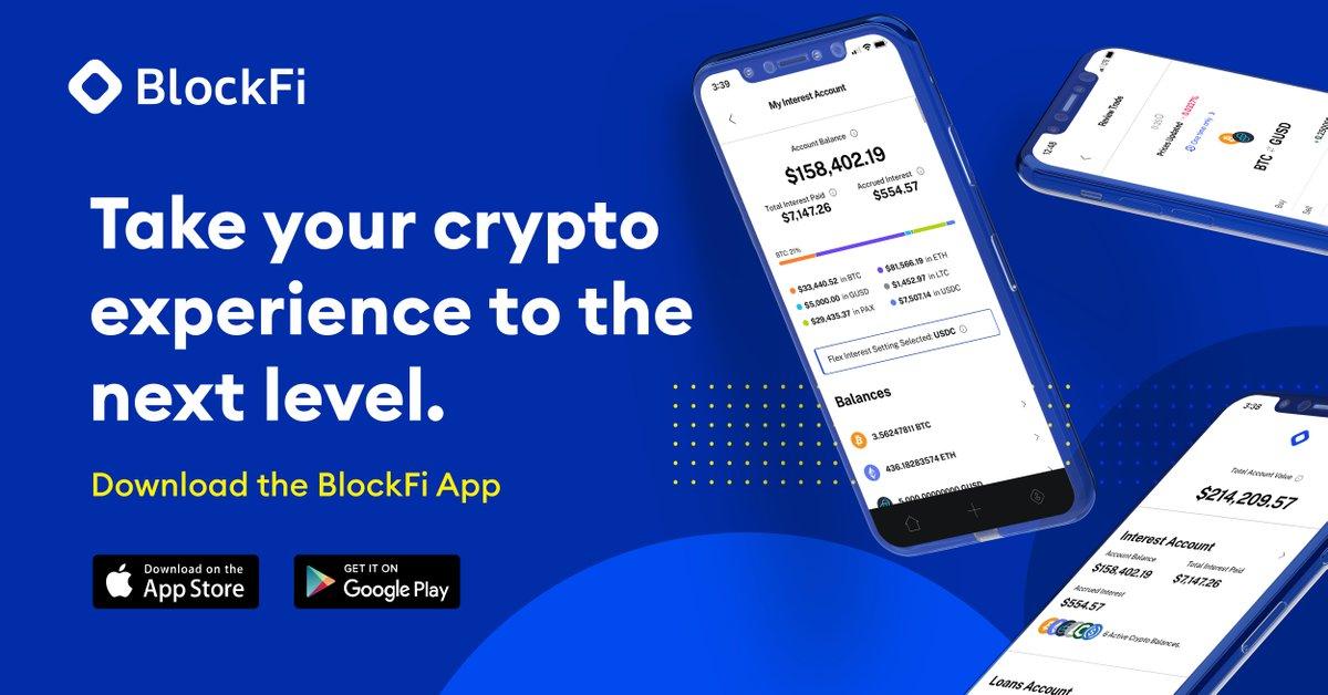 BlockFi Earn Crypto interest