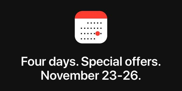 photo image Apple holding 'four days of special offers' event for Black Friday through Cyber Monday