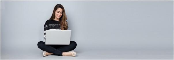 girl on MacBook