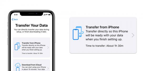 photo of iOS 12.4: Transfer data directly to a new iPhone wirelessly, or using a cable image