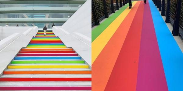 Apple Park Decorated With Rainbow Colors…