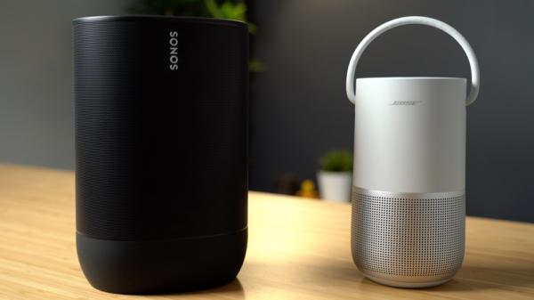 photo of AirPlay 2 Speakers Compared: Sonos Move vs. Bose Portable Home Speaker image