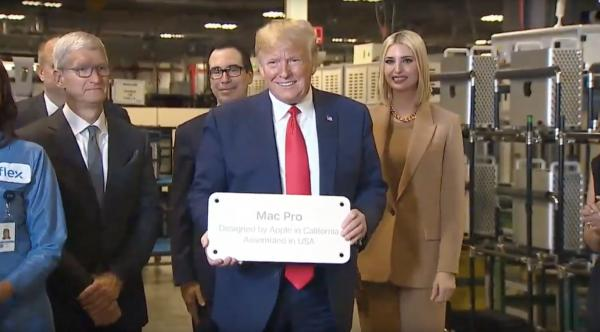 Here's what happened at Tim Cook's Mac Pro factory tour with President Trump