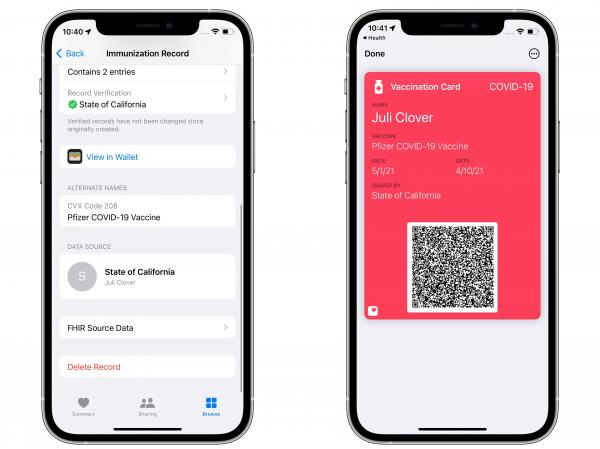 iOS 15.1 Lets Users Add COVID…